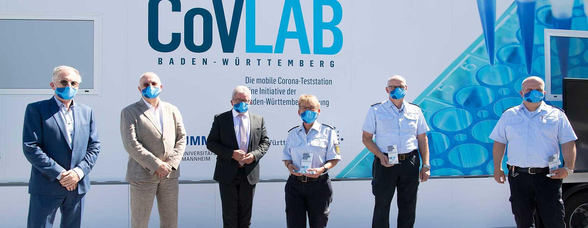 CoVLAB Baden-Württemberg – Das mobile COVID-19-Testlabor. Eine Initiative der Baden-Württemberg Stiftung wird der Öffentlichkeit vorgestellt