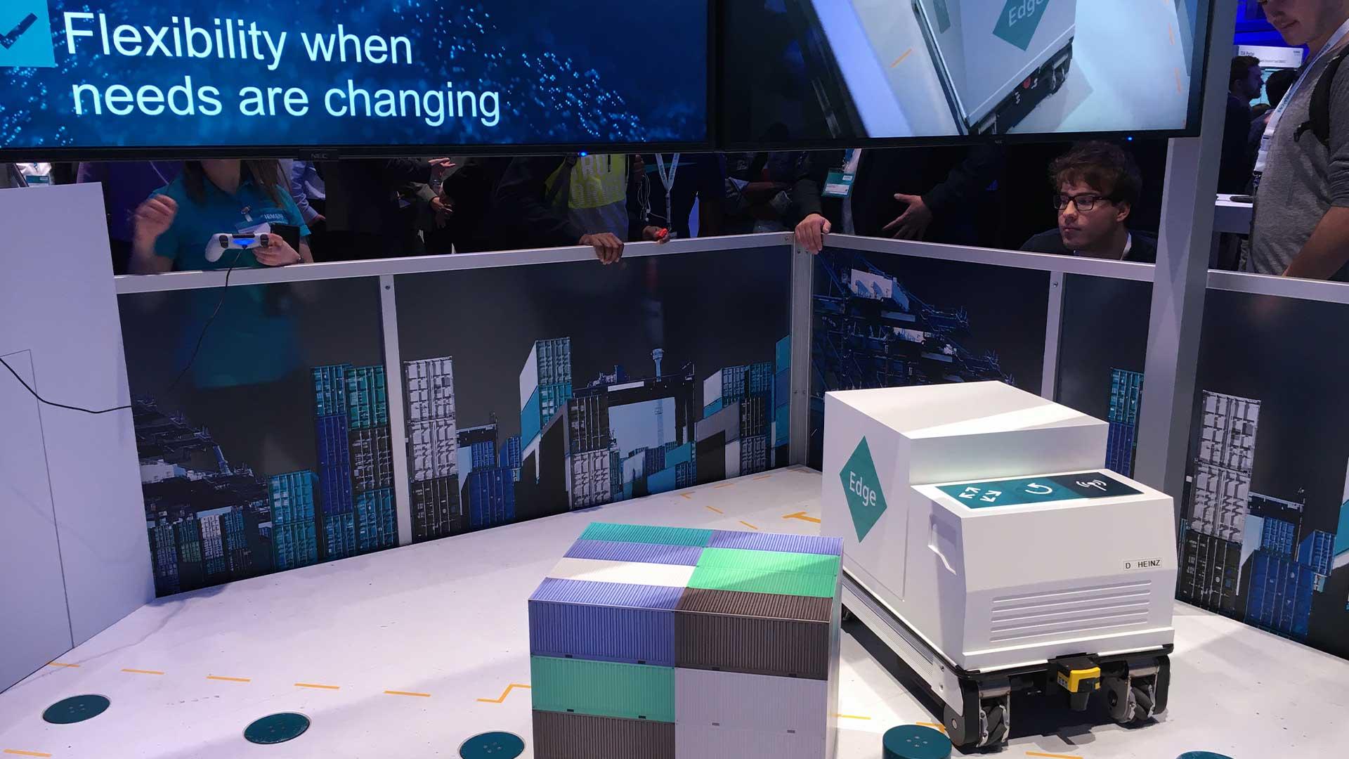 Siemens AGV Showcase auf der SPS 2019