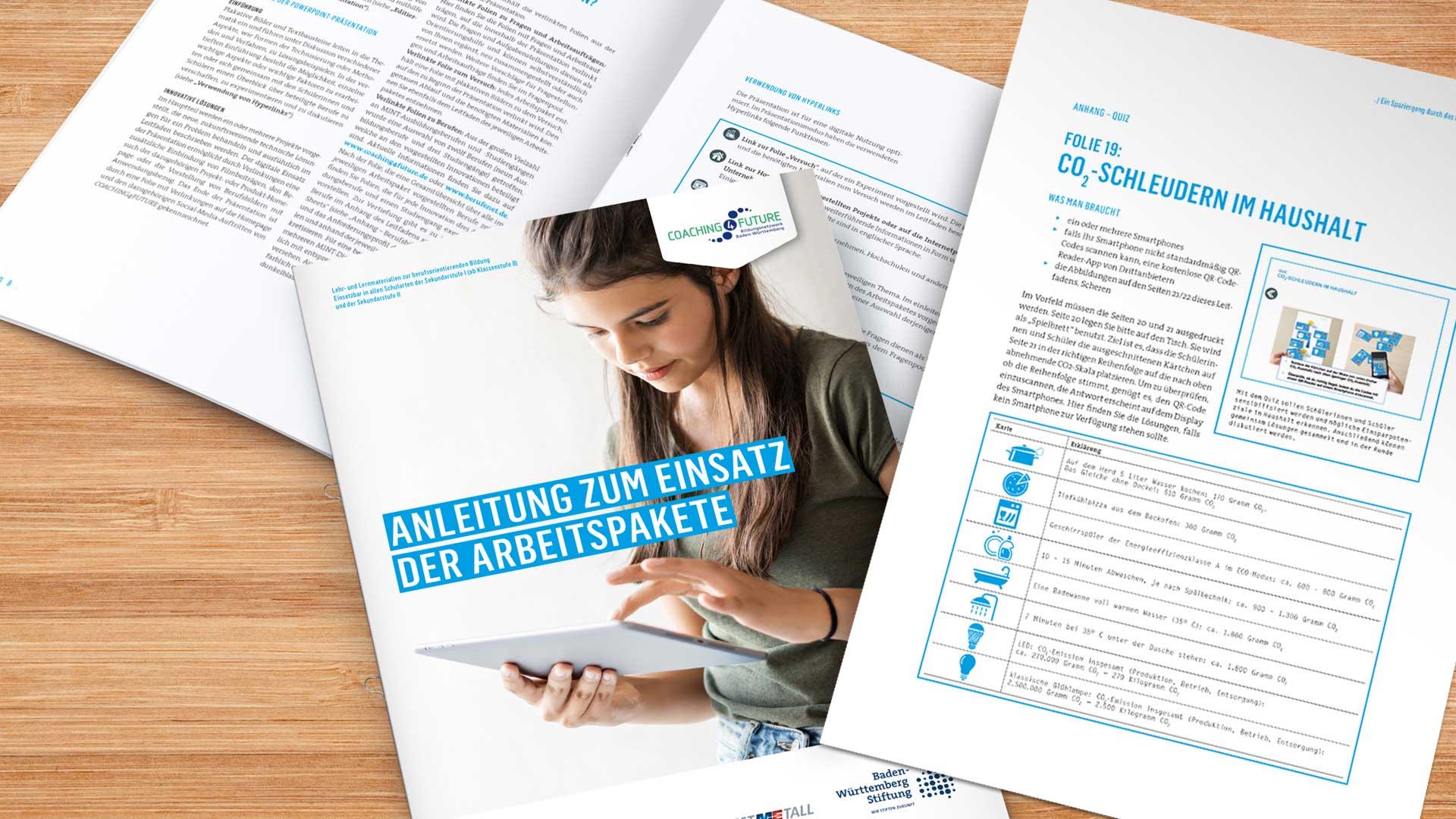 C4F Berufsorientierung MINT, Lehr- und Lernmaterialien